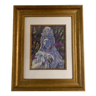 Michelle Manning Quan Yin Framed Artist Proof Print For Sale