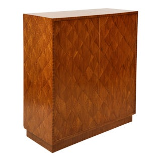 Parquetry Sycamore Cabinet For Sale