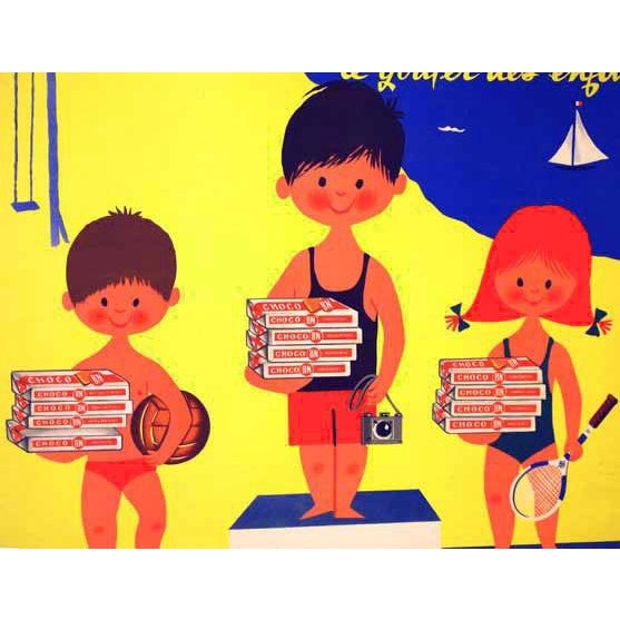 """Original French """"Choco Bn"""" Advertising Poster - Image 3 of 5"""
