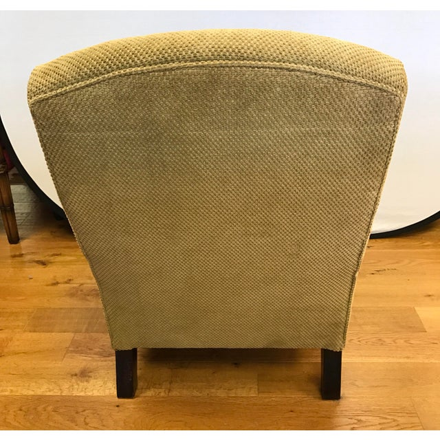 George Smith George Smith Green Upholstered Edwardian Club Chair For Sale - Image 4 of 6