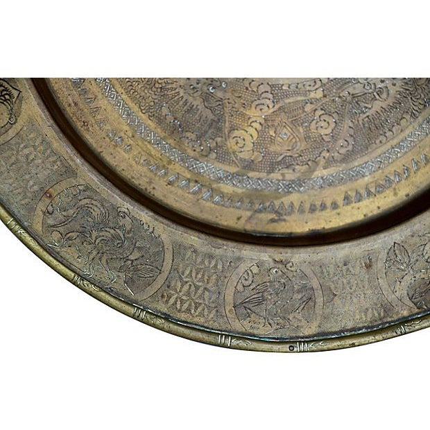 Etched Brass Chinese Dragon Tray For Sale In Richmond - Image 6 of 6