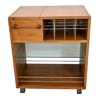 Danish Modern Teak Bar Cart For Sale