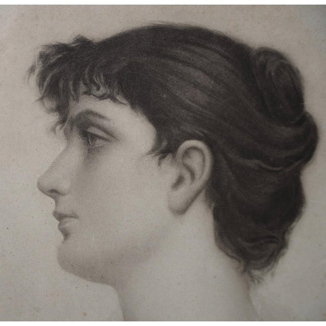 Portraiture Early 20th Century Graphite Portrait of a Young Woman C.1910 For Sale - Image 3 of 6
