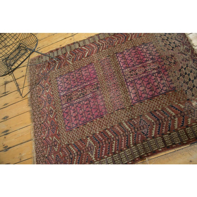 "Antique Turkmen Square Rug - 4'5"" x 4'11"" For Sale - Image 5 of 10"