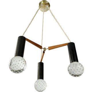 Three Light Seguso Solid Glass Spheres Chandelier Preview