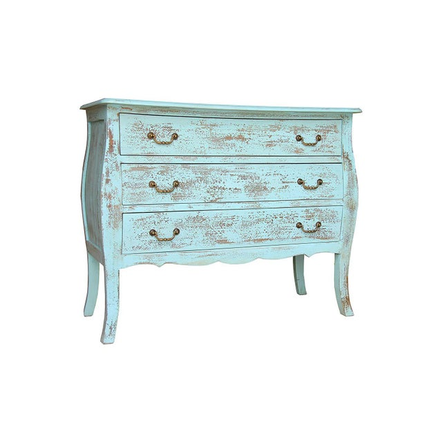 Create more storage space in your bedroom with this distressed three drawer chest. Handcrafted using MDF & mango wood,...