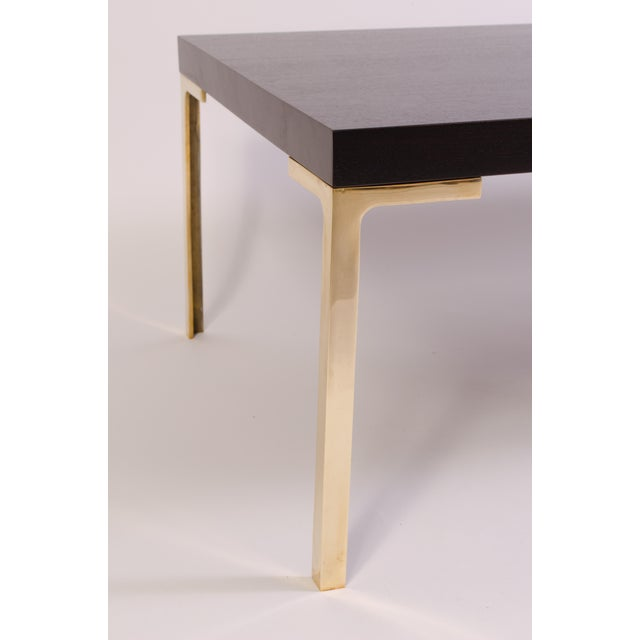 Metal Astor Cocktail Table in Ebonized Walnut by Montage For Sale - Image 7 of 7