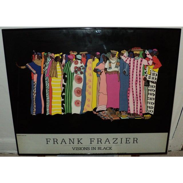 """Large African American Frank Frazier """"Visions in Black """" Lithograph Poster For Sale - Image 9 of 9"""