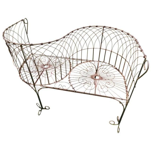 Vintage Iron Garden Tete-A-Tete For Sale