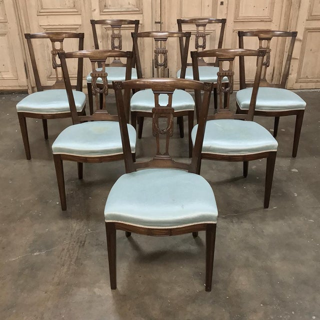 Antique Hepplewhite Dining Chairs - Set of 8 For Sale - Image 4 of 12