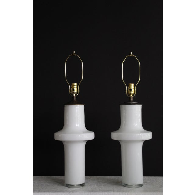 Vico Magistretti Style Murano Glass Table Lamps - a Pair For Sale - Image 13 of 13