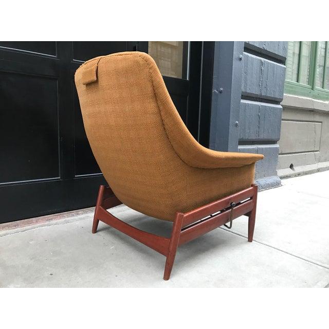 Danish Modern Povl Dinesen Danish Modern Lounge Chair and Ottoman For Sale - Image 3 of 4