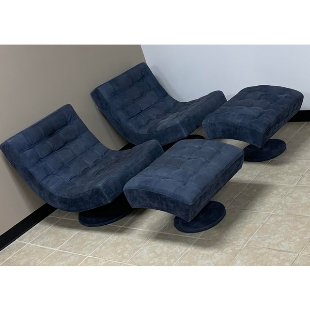 Roche Bobois swivel lounge chair with matching ottoman. The price is for one chair and one ottoman, but I have two...