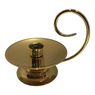 Vintage Large Baldwin Brass Chamberstick For Sale
