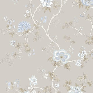 Lewis & Wood Indienne Wisteria Botanic Style Wallpaper Sample For Sale
