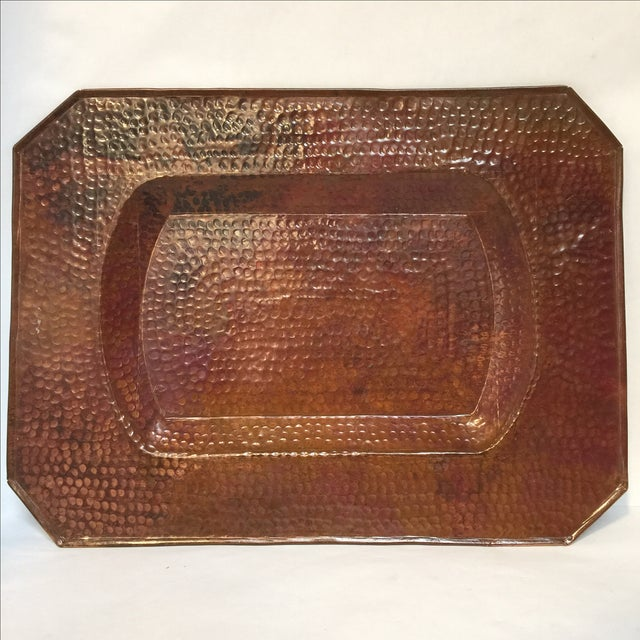 Vintage Mission Hammered Copper Tray - Image 2 of 5