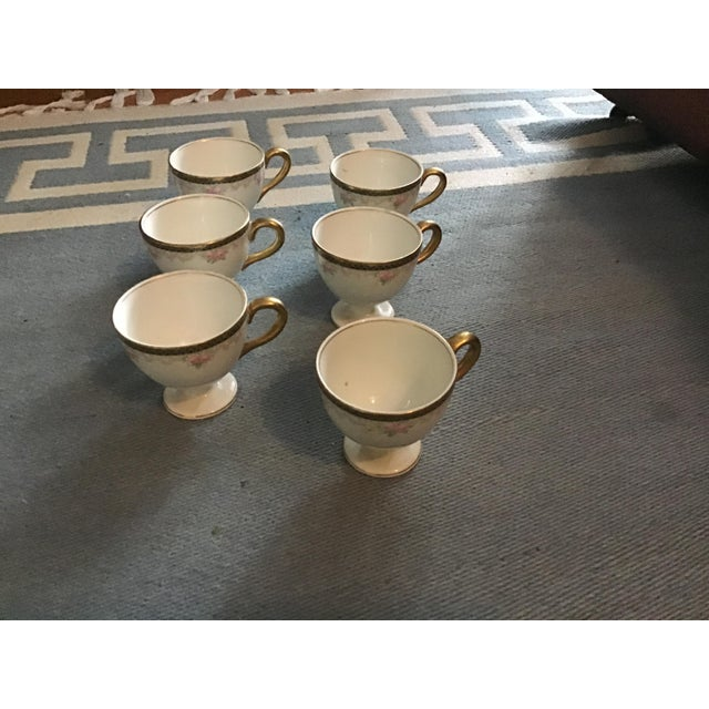 Antique China Egg Cup With Handles - Set of 6 For Sale - Image 10 of 10