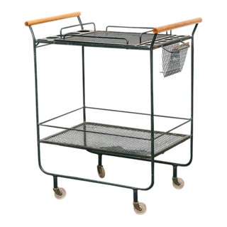 Fredrick Weinberg Style Serving / Bar Cart