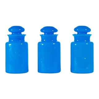 Antique Italian Opaline Apothecary Jars - Set of 3 For Sale