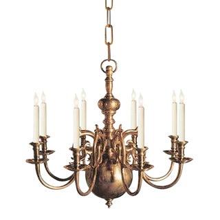 Visual Comfort E.F Chapman 8 Light Brass Chandelier For Sale