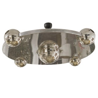 "Yonel Lebovici - Ceiling Light Model ""Soucoupe"", Steel, Circa 1969 For Sale"