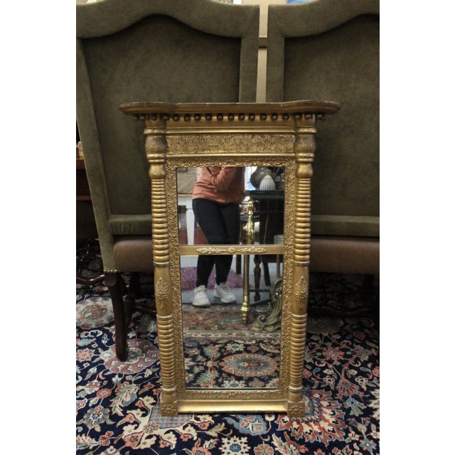 Gold Art Nouveau Gold Two Section Mirror For Sale - Image 8 of 9