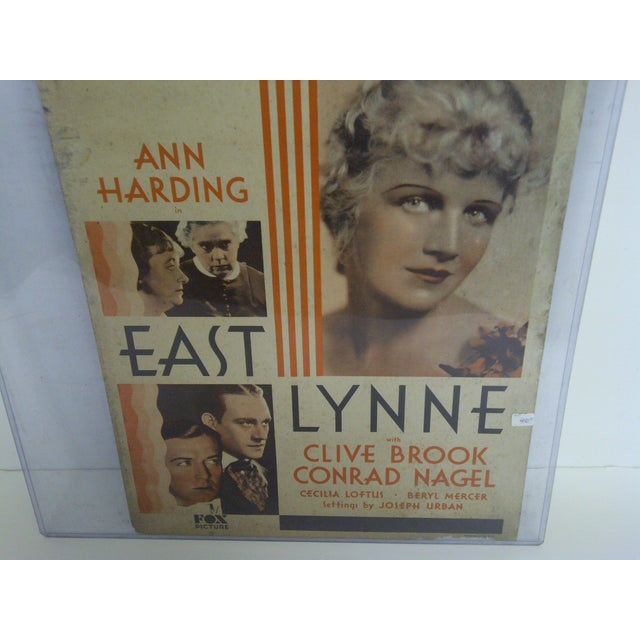 """Bellvue Theatre Poster, """"East Lynne,"""" 1931 For Sale - Image 4 of 8"""