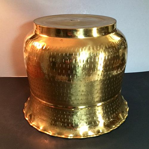Asian Late 20th Century Vintage Hammered Brass Planter For Sale - Image 3 of 6
