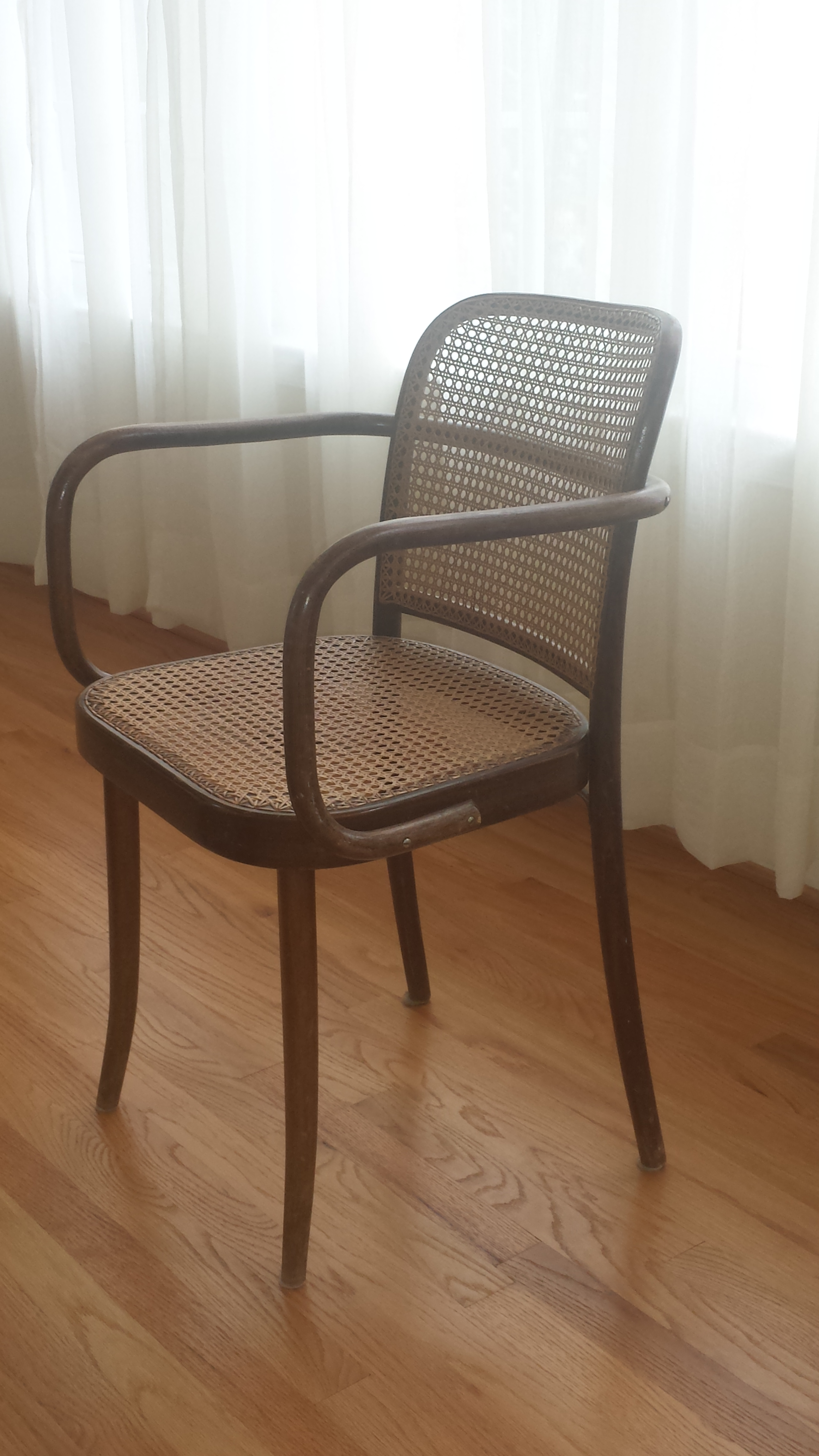 Nice Vintage Stendig Thonet Bentwood Cane Chairs   Set Of 4   Image 4 Of 11