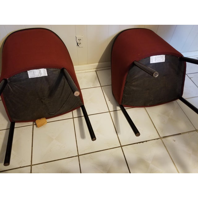 Vintage Mid Century Modern Ward Bennett Chairs- A Pair For Sale - Image 9 of 12