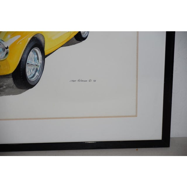 Classic Yellow Ferrari Original Watercolor by Stan Petersen C.1993 For Sale In San Francisco - Image 6 of 10