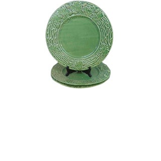 Majolica Fall Holiday Platters/Chargers Set/3 For Sale