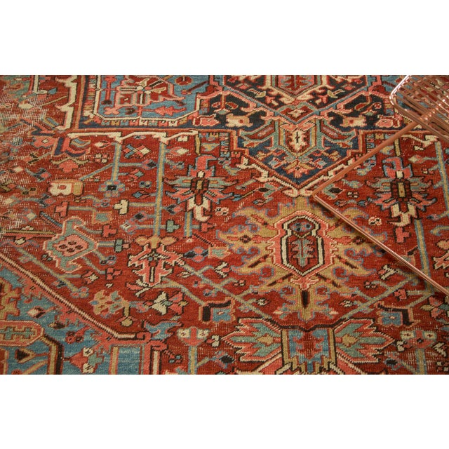 "Antique Heriz Carpet - 8'5"" X 11'3"" - Image 4 of 7"
