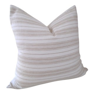 Linen Ticking Down Feather Pillow For Sale