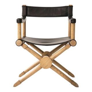 "Paul Radocanachi ""Rodo"" Cerused Oak Campaign Chair For Sale"
