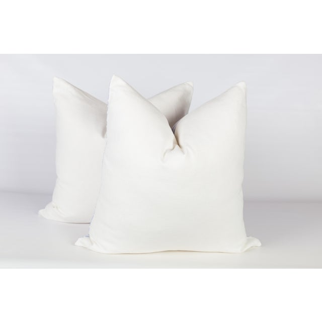 Alan Campbell Periwinkle Zig Zag Pillows - A Pair For Sale - Image 4 of 5
