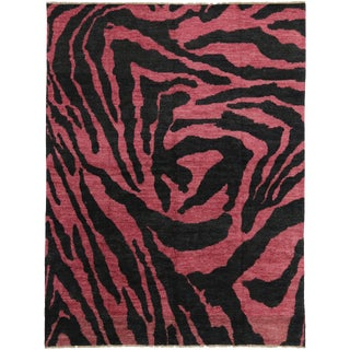 "Contemporary Zebra Print Moroccan Style Rug -- 10'6"" x 13'10"" For Sale"