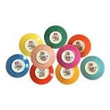 Image of Vintage Richard Ginori Italian Botanical Porcelain Plates - Set of 9 For Sale