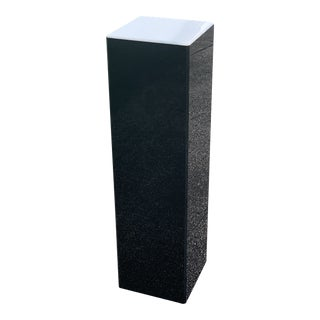 Black Lucite Illuminated Base Rectangular Pedestal For Sale
