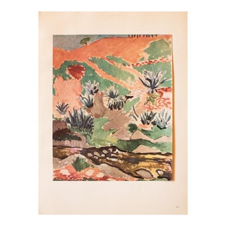 1948 Henri Matisse, Original Period Landscape With Cactus For Sale