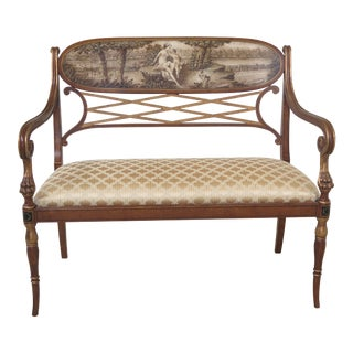 Italian Neoclassical Paint Decorated Settee or Bench For Sale