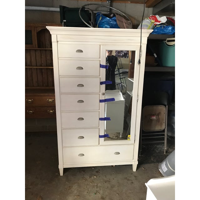 Ethan Allen Swedish Home Painted Armoire Dresser with mirror. High quality, American made, large chifferobe /mirror door,...