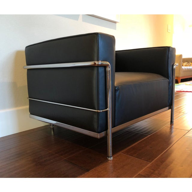 Mid-Century Modern Cassina Le Corbusier LC3 Armchair For Sale - Image 11 of 12