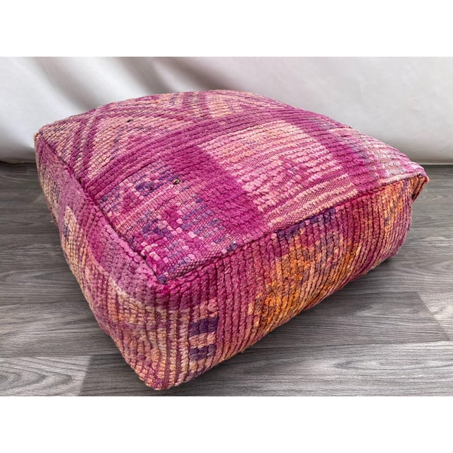Hand Woven Berber Moroccan Pouf Cover For Sale - Image 13 of 13