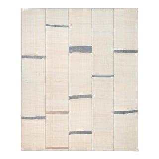 Mid 20th Century Vintage Kilim Composition Rug- 9′8″ × 11′7″ For Sale