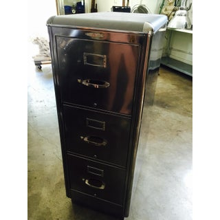 Metal & Leather-Top Filing Cabinet Preview