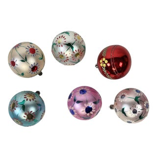 Hand-Painted Polish Holiday Ornaments, Set of 6 For Sale