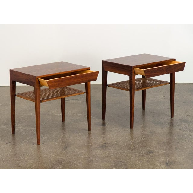 Severin Hansen Mid-Century Modern Rosewood Tables by Severin Hansen - a Pair For Sale - Image 4 of 10