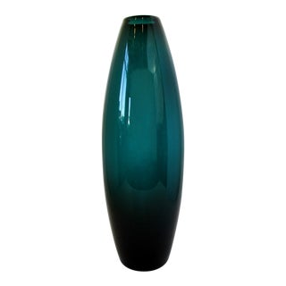 Large Holmegaard Grønland Glass Vase For Sale