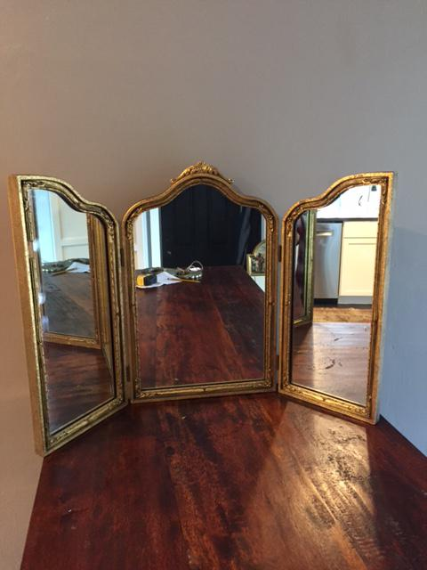 Vintage 1960s Trifold Vanity Table Mirror   Image 2 Of 7